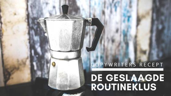 Voor elke schrijftaak een recept. Vandaag: de routineklus!