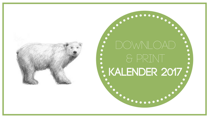 Freebie: download & print je kalender 2017