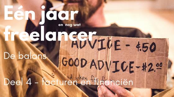 Eén jaar freelancer – DEEL 4: facturen en cijfers